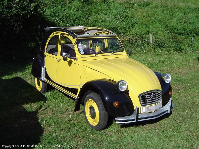 2cv charleston noir et jaune